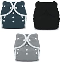 Thirsties Duo Wrap Snaps Diaper Covers 3 pack Combo: Fin, Midnight Blue, Jet Sz 2