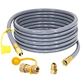 SUMNEW 24 Feet 1/2 inch ID Natural Gas Hose, Quick Connect/Disconnect Fittings with 3/8' Female by...