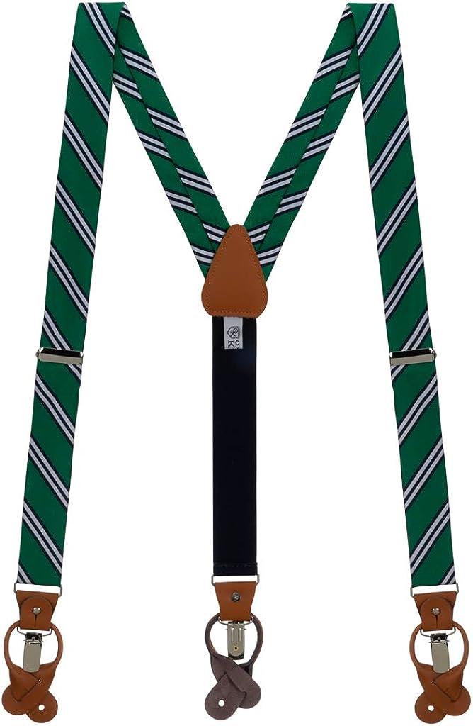 Oxford Kent by SuspenderStore Men's Classic Multi-Stripe Suspenders