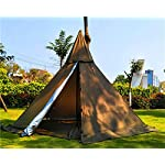 Outdoor Portable Waterproof Camping Pyramid Teepee Tent Pentagonal Adult Tipi Tent with Stove Hole 2