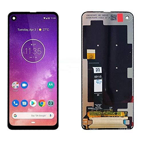 Pantallas LCD para teléfonos móviles Mostrar Panel de Sensor de Pantalla táctil Montaje digitante/Ajuste para Moto P50 LCD/Ajuste para Motorola Moto One Vision LCD Una visión (Color : Black)
