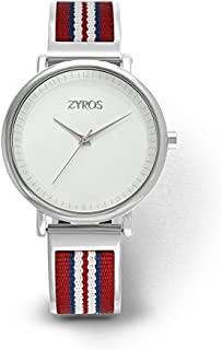 زايروس ساعة رسمية للرجال ، انالوج بعقارب - ZY599M111103R