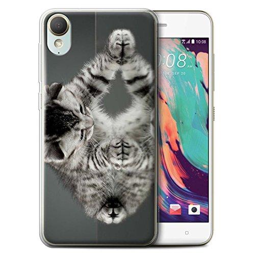 Stuff4® Gel TPU hoes/case voor HTC Desire 10 Lifestyle/spiegel patroon/schattige katjes collectie