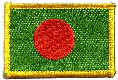Aufnäher Patch Flagge Bangladesch - 8 x 6 cm