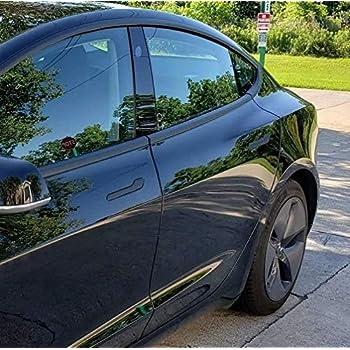 Amazon Com Chrome Delete Vinyl Kit Blackout Trim Overlay For 2012 20 Tesla Model 3 Chrome Trim Door Handles Matte Black Automotive