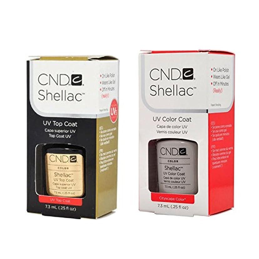 体細胞いくつかの可決CND Shellac UVトップコート 7.3m l  &  UV カラーコー< Cityscape>7.3ml [海外直送品]