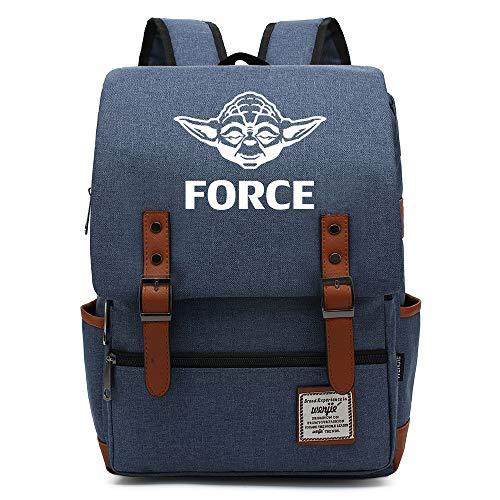 Force Master Yoda Mochila, Mochila al Aire Libre Oxford College School, se Adapta a la Tableta portátil de 15'', Resistente al Agua 14 Pulgadas. Color-22.