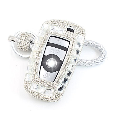 Thor-Ind Luxury Bling Crystal Diamond Key Fob Case Cover KeyChain For