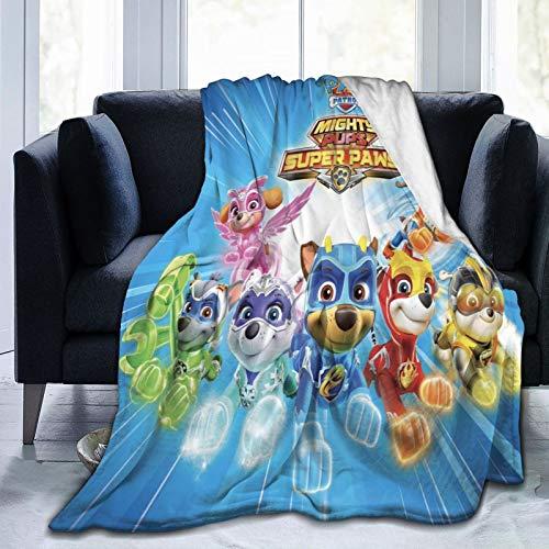 Manta de forro polar de microfibra suave y esponjosa de Paw Patrol para cama, sofá, silla, otoño e invierno, 125 x 150 cm