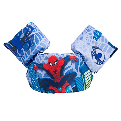 JKSPORTS Baby Floats for Pool,Kids Life Jacket from 30 to 50lbs, Compatible 20-30 Pounds Infant/Baby/Toddler, Swim Vest with Arm Wings for Boys and Girls (Spider-Man Blue)