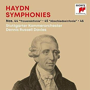 """Haydn: Symphonies / Sinfonien Nos. 44 """"Trauer-Sinfonie"""", 45 """"Abschiedssinfonie"""", 46"""