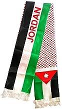 Printed Unisex Jordan Flag Scarf Arabian Shemagh Shawal Desert Tactical Fashion Wrap Jordanian Keffieh Hatta