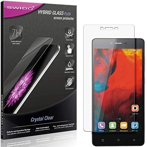 SWIDO Panzerglas Schutzfolie kompatibel mit Gionee F103 Bildschirmschutz-Folie & Glas = biegsames HYBRIDGLAS, splitterfrei, Anti-Fingerprint KLAR - HD-Clear