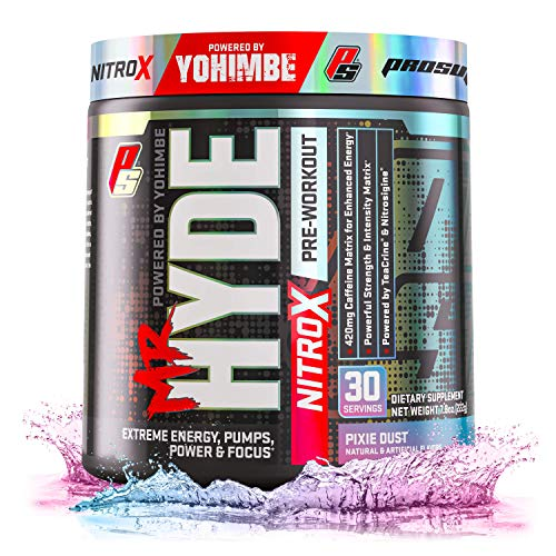 ProSupps Mr. Hyde NitroX Pre-Workout Powder Energy Drink - Intense Sustained Energy, Pumps & Focus with Beta Alanine, Creatine & Nitrosigine, (30 Servings, Pixie Dust)