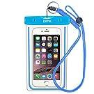 iPhone6/Samsung 防水ケース EOTW® 防水携帯ケース 救助用ネックストラップ付属 IPX8 ブルー