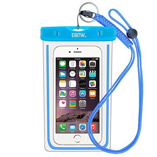 EOTW IPX8 Handytasche Wasserdicht Universal Tasche Kompatibel mit iPhone 8 Plus/6/5s, Huawei P20 Pro/Mate 10, Xiaomi Mi 8/Redmi Note 7, Wasser- und staubdichte Hülle für Handys bis zu 6,5 Zoll, Blau
