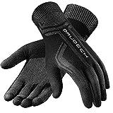 BRUBECK Handschuhe Herren Sport | atmungsaktive Innenhandschuhe Skifahren Motorrad Ski | Laufhandschuhe nahtlos anatomisch | Unterziehandschuhe | Alltag | Gr. XXL | Schwarz | GE10010A