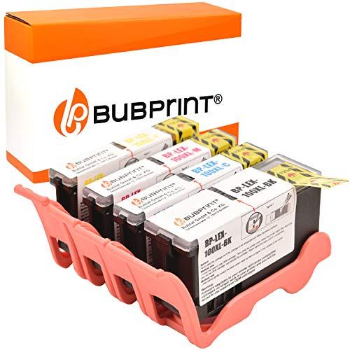 Bubprint 4 Druckerpatronen kompatibel für Lexmark 100XL 100 XL für Interact S605 Interpret S405 S505 Pinnacle Pro 901 Platinum Pro 905 Prestige Pro805