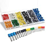 800PCS Wire Ferrules, Sopoby Insulated Ferrule Crimp Pin Terminal Kit for Electrical Projects, AWG 24-10, 8 Sizes