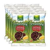 Gullón - Tortitas de Maíz y chocolate Vitalday, 800 g, Pack de 8