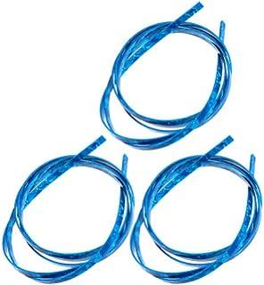 3pcs Blue Pearl Celluloid 5 Feet Guitar Binding Purfling Strip 1650 x 6 x 1.5 mm