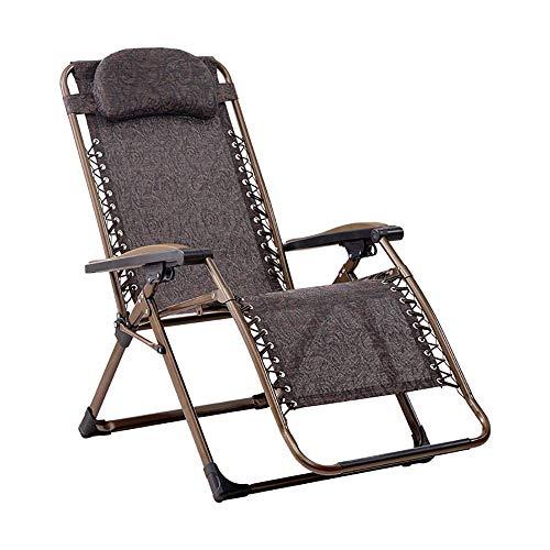 CHHD Sonnenliege, Liege Tragbarer Klappstuhl mit Kopfstütze, Stuhl für Erwachsene zu Hause, Büro-Lunch-Lounge-Stuhl, Outdoor-Camping-Strandkorb, Last 200 kg