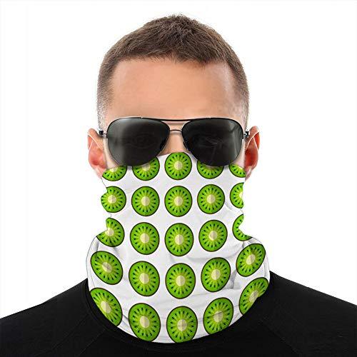 Xunulyn Unisex Fleece Neck Cover Gamaschen Haarband Kiwi in einem Schnittmuster Half Cover