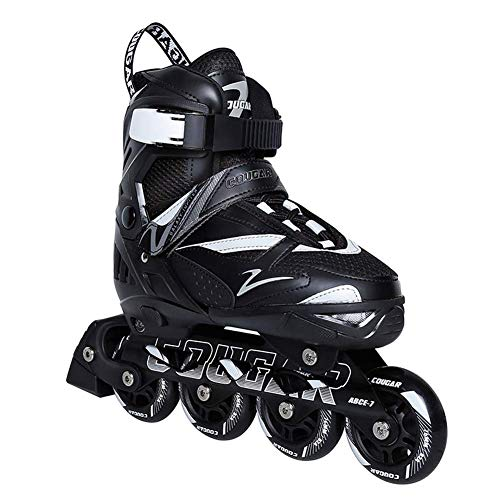 Autoks Men's and Women's Adjustable Inline Skates, Lightweight Roller Skates for Adults,Professional Roller Blades for Beginners,Triple Protection Roller Blades Boots,A,XL(6‐8.5UK/40‐43EU)
