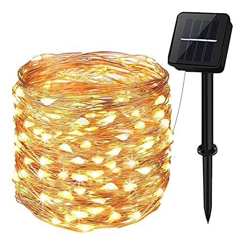 Guirnaldas Luces Exterior Solar,aifulo 20m 200 LED Cadena de Luces,8 Modos Impermeable Iluminación Decoración para Navidad,Terraza,Fiestas,Bodas,Patio,Jardines, Festivales