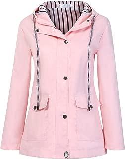 Pumps Hooded Raincoat Women's Stripe Rain Jacket Outdoors Windproof Overcoat