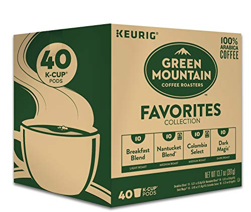 Keurig Green Mountain Coffee Roasters Favorites Collection Variety Pack, Single-Serve Coffee K-Cup Pods Sampler, 40 Count