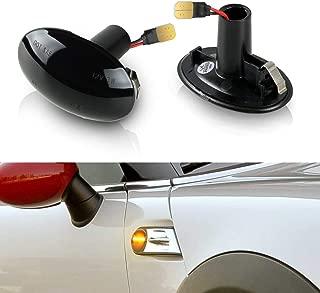 Gempro 2Pcs Amber LED Side Marker Turn Signal Light For Gen2 MINI Cooper R55 R56 R57 R58 R59, Replace OEM Side Marker Lights
