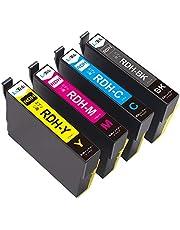 【LxTek】Epson用 エプソン RDH-4CL インクカートリッジ 4色セット リコーダー インク 『互換インク/大容量/残量表示/個包装/一年保証』対応機種:Epson PX-048A PX-049A