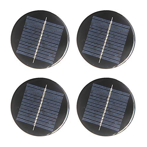 NUZAMAS Juego de 4 unidades de 6 V 80 mm Micro Mini Panel Solar Cableado para Energía Solar Energía, DIY Hogar Luz de Jardín, Proyectos Científicos - Juguetes - Cargador de batería
