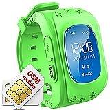 Hangang Reloj para Niños GPS Rastreador niños Reloj de Pulsera teléfono SIM Anti-Lost SOS...