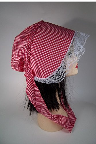 MyPartyShirt Red and White Checkered Bonnet