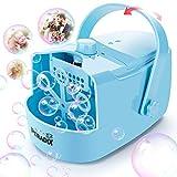 Peradix Máquina de Burbujas Portátil, Automatico Máquina Burbujas,Alimentado por Batería o Cable USB Máquina de Hacer Burbujas, para Bodas, Cumpleaños Infantiles y Escenarios, Navidad