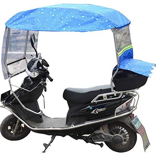 XIONGG Toldo De Motocicleta Eléctrica, Impermeable Universal, Sombrilla Parabrisas Scooter Paraguas Cubierta...