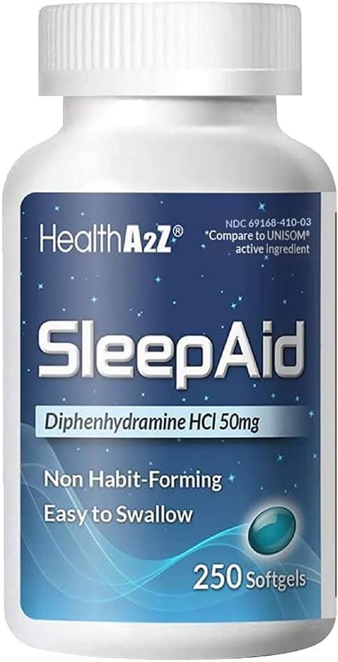 HealthA2Z Diphenhydramine HCl 50mg Sleep Aid  $10.58 Coupon