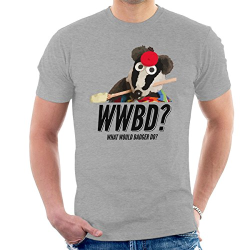 Bodger en Badger Wat zou Badger Lepel Heren T-Shirt