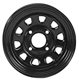 ITP Delta Steel Wheel - 12x7 - 5+2 Offset - 4/110 - Black , Bolt Pattern: 4/110, Rim Offset: 5+2, Wheel Rim Size: 12x7, Color: Black, Position: Front/Rear 1225553014