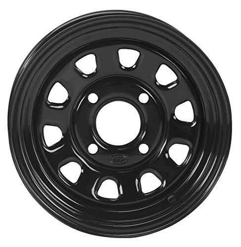 ITP Delta Steel Wheel - 12x7 - 4+3 Offset - 4/156 - Black , Bolt Pattern: 4/156, Rim Offset: 4+3, Wheel Rim Size: 12x7, Color: Black, Position: Front/Rear 1225579014