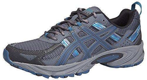 ASICS Men's Gel Venture 5 Trail Running Shoe, Black/Ink/Ocean, 11 M US