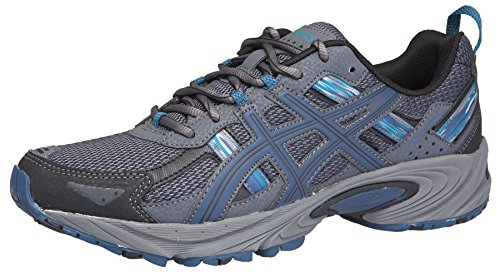 ASICS Men's Gel Venture 5 Trail Running Shoe, Black/Ink/Ocean, 11 M US