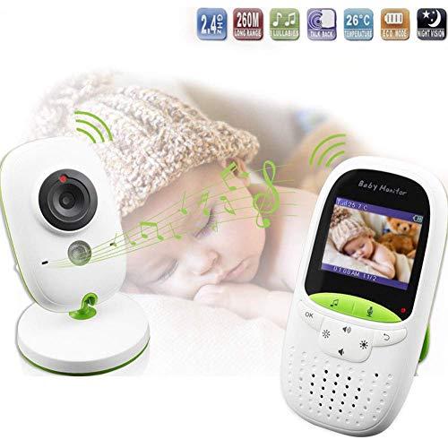 SWEET Moniteur pour Bébé avec Caméra Et Vision Nocturne Audio Écran LED De 2,4 Pouces Résolution 640 * 480 Fonction Vocale Intégrée Affichage De La Température en Temps Réel
