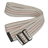 Kinsman Enterprises 80317 Gait Belt with Metal Buckle, 2' Width, 60' Length, 1 Stripe