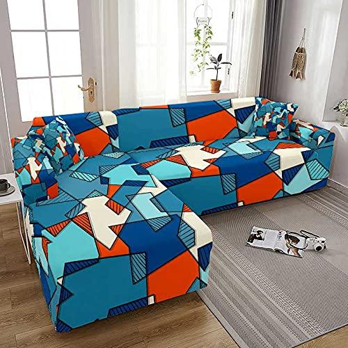 WXQY Quadratische Geometrie Drucken Elastischer Sofabezug für Wohnzimmer Spandex Stretch Couchbezug Sofabezug Wohnkultur A2 1 Sitzer