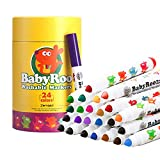 Jar Melo Washable Broad Line Markers Set for Kids;Non-Toxic;24 Count;Art...