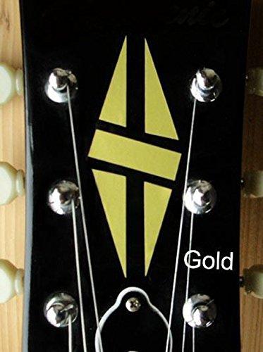 Jockomo Inlay Stickers, Headstock-Diamond Hatch (GOLD)