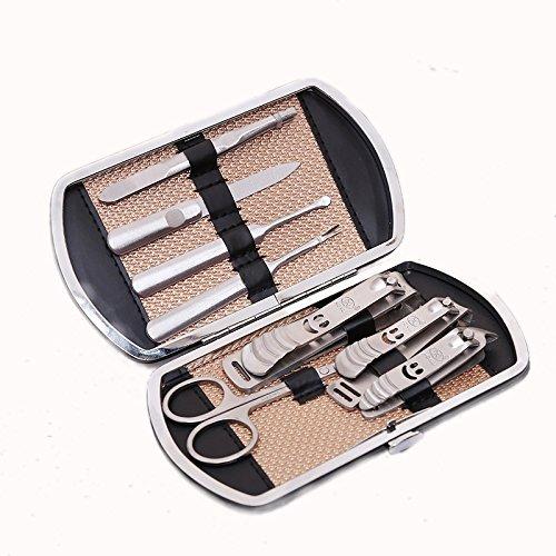 GAOwi Set de 8 Piezas de uñas de Acero Inoxidable Set de Belleza de uñas de Acero Inoxidable